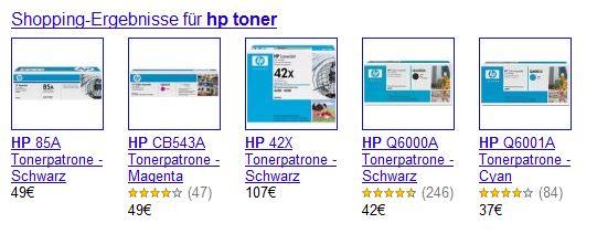HP Toner Suchergebnisse